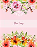 Sleep Diary: Beauty Pink Floral, Monitor Healthy