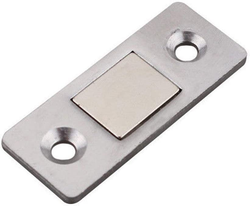 Door Catch 2PCS Ultra-Thin Furniture Cabinet Durable Magnetic Mini