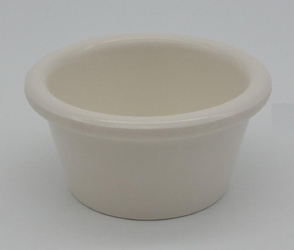 Clipper Ramekin Commercial Restaurant White Melamine Set of 72 (2 Ounce Smooth)