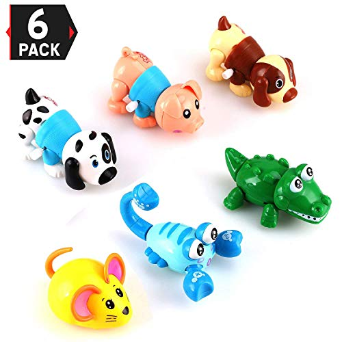 - Liberty Imports Set of 6 Wind Up Animals for Kids (Includes Pig, Mouse, Dog, Scorpion, Crocodile, Puppy)