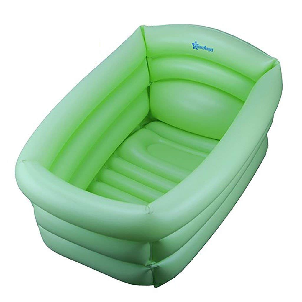 Bathtub, Pools Household Electric Heat Pump Newborn Baby Tub Inflatable Swimming Pool Size  65  45  27.5cm Green Bathtubs