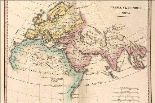 Poster Map Of Ancient Europe Asia Africa 1826 Antique Reprint