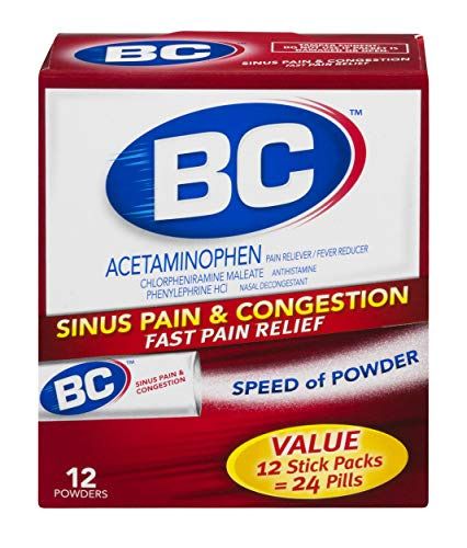 BC Powder | Cold & Flu Relief | Acetaminophen | 12 Count | 3 Pack