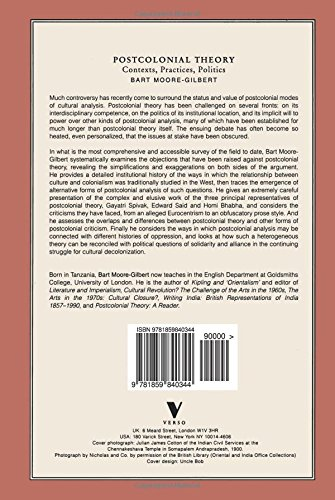 Postcolonial Theory: Contexts, Practices, Politics: Bart