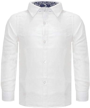 NAME IT Camisa Blanca para niño Zaffiro Scuro 98 cm/3 años: Amazon.es: Ropa y accesorios