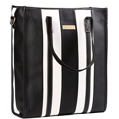 Laptop Bag for Women- Leather Carrying Travel Business Computer Shoulder Bag Briefcase Handbag for Women