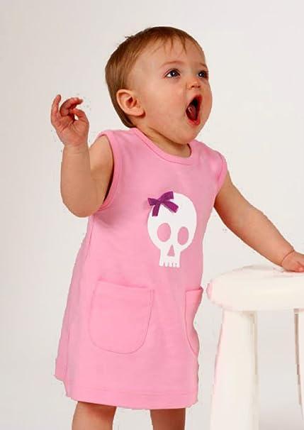 07b1a9914 Skull   Bow Baby Girls Dress