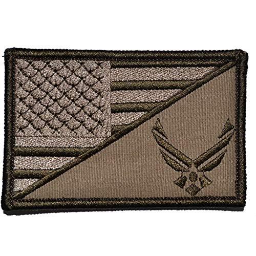(USAF Emblem USA Flag - 2.25x3.5 Morale Patch - Coyote Brown)