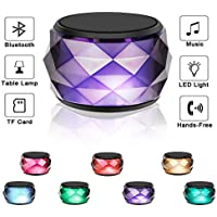 LED Bluetooth Speaker,LFS Night Light Wireless Speaker,...