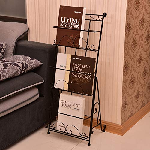 AXDT Floor Standing Magazine Rack Holder Organizer, Brochure Magazine Catalog Literature Display Holder Rack, Elegant Design Metal Rack for Home, Trade Show, Office and Retail Store by AXDT (Image #4)