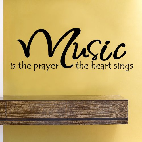 Music is The Prayer The Heart Sings Vinyl Wall Decals Quotes Sayings Words Art Decor Lettering Vinyl Wall Art Inspirational ()