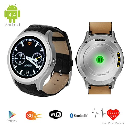 Indigi UNLOCKED! Android 4.4 Smart Watch Cell Phone GSM 3G+WiFi GPS Google Play Store