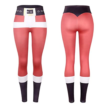 b38248cffde4b Amazon.com : Gallity Women Pants Christmas Party Pants Sports Gym Yoga  Running Fitness Leggings Athletic Trouser (S, Black) : Garden & Outdoor