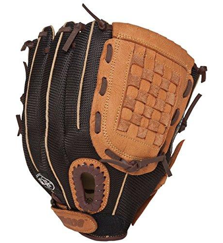 Louisville Slugger 11-Inch FG Genesis Baseball Infielders Gloves, Brown, Right Hand Throw