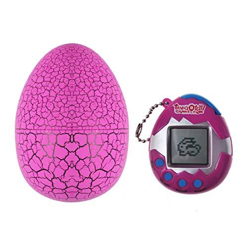 SAFSOU Electronic Pet Child Toy Virtual Pet Digital Pet Toy Egg Tumbler Dinosaur Egg Packing (Purple )