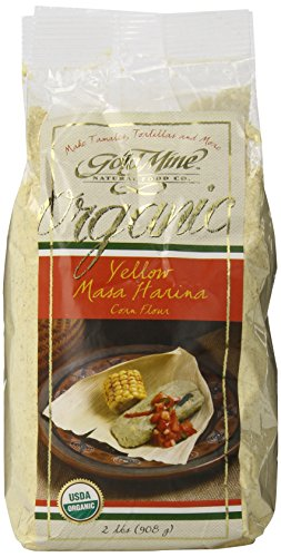 Gold Mine Organic Masa Harina Corn Flour, Yellow, 2 Pound