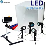 LimoStudio 24 Folding Photo Box Tent LED Light Table Top Photography Studio Kit, AGG1071
