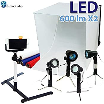 "LimoStudio 24"" Folding Photo Box Tent LED Light Table Top Photography Studio Kit, AGG1071"