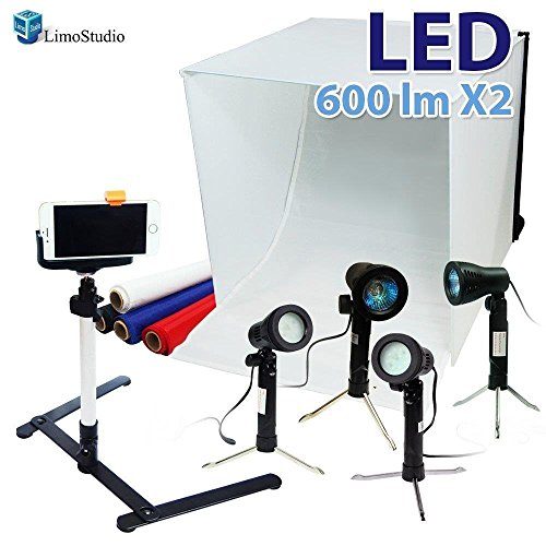 "LimoStudio 24"" Folding Photo Box Tent LED Light Table Top Ph"