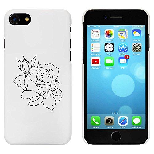 Blanc 'Belle Fleur Rose' étui / housse pour iPhone 7 (MC00073892)