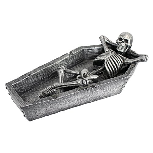 Design Toscano Resting His Weary Bones Skeleton Catch-All Sculpture