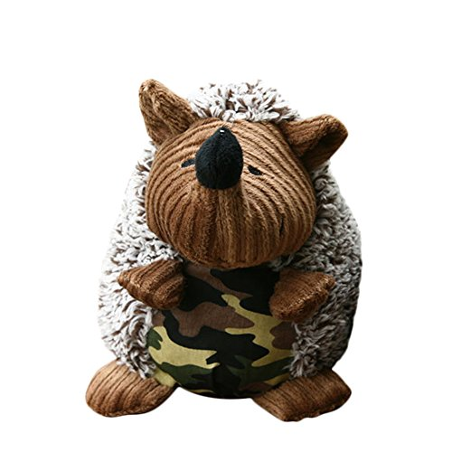 Hedgehog Dog Toys Plush Sheep Stuffed Animals Pet Burrow Squeaky Playing Toy
