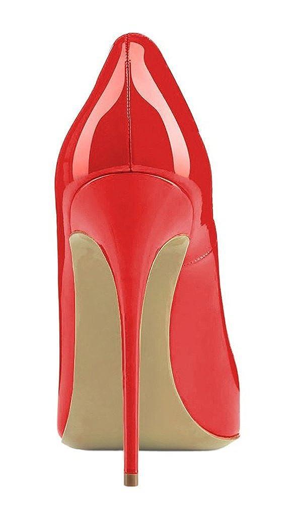 EDEFS Damen Hoch Absatz Pumps Spitze Zehe Elegant High Heels Schuhe Schuhe Heels Rote c5b3fe
