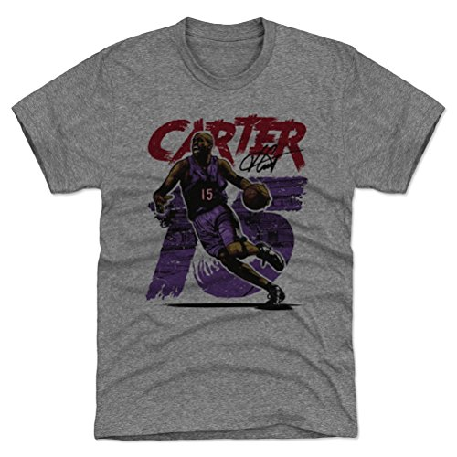 Vince Carter Basketball (500 LEVEL Vince Carter Triblend Shirt Small Tri Gray - Vintage Toronto Basketball Men's Apparel - Vince Carter Rough P)