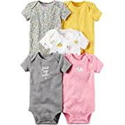 Carter's Baby Girls' 5-Pack Bodysuits 9 Months