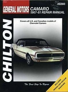 chevrolet camaro 1970 81 haynes repair manuals scott mauck rh amazon com 1979 Camaro Z28 1980 Camaro Z28