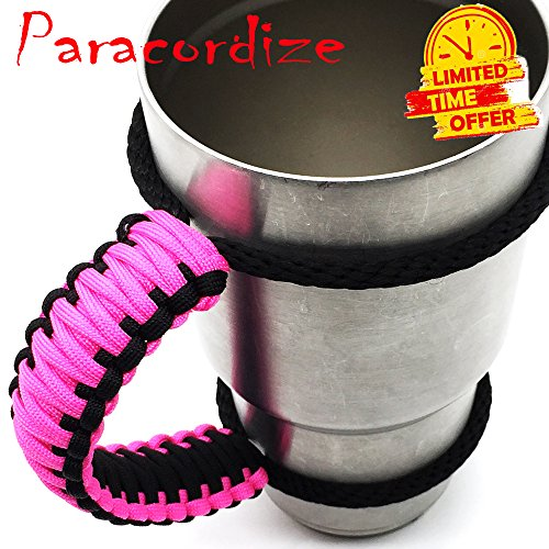 Handmade Paracord Handle For Yeti, Ozark, Rtic, BOSS, Kodiak, SIC Trail Rambler and other 30 Oz Tumblers – Ultra-Strong 550 lbs Type 3 Paracord Handle…