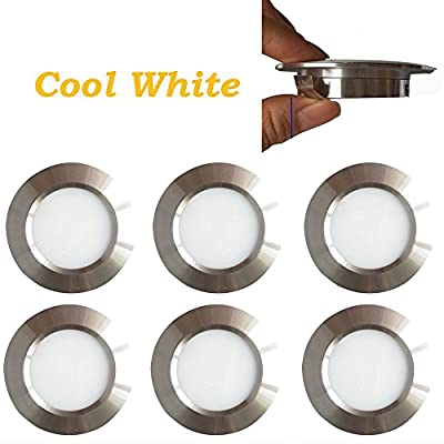 12v-LEDlight Halogen Replacement Silver Recessed Lighting Kit - Low Voltage LED Under Cabinet Lights - Long Lifespan Ceiling Light Fixtures, 3w, Bright Natural White, Pack of 6 with Bonus: Automotive