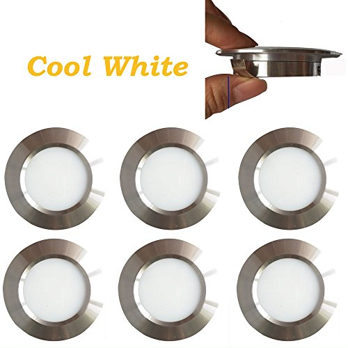 12v-LEDlight Halogen Replacement Silver Recessed Lighting Kit - Low Voltage LED Under Cabinet Lights - Long Lifespan Ceiling Light Fixtures, 3w, Bright Natural White, Pack of 6 with Bonus - Low Voltage Cabinet Lights
