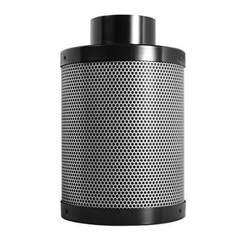 Activated Charcoal Carbon Air Filter 4' x 12', for Inline Fans Up to 200 CFM, Grow Tent Odor Scrubber, 1.8' Thick Layer of Top Grade Activated Australian Virgin Charcoal-for Hydroponics and Growing