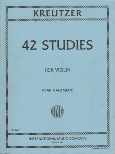 International Music Company No. 2073: Kreutzer; 42 Studies for Violin