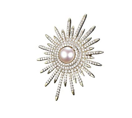 Forme a diamante lleno brille el sol flor broche traje traje ...