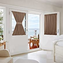 NICETOWN Blackout Patio Door Curtain -Privacy Enhancing Panel With Adjustable Velcro - 1 Piece W54 x L40-Inch - Cappuccino
