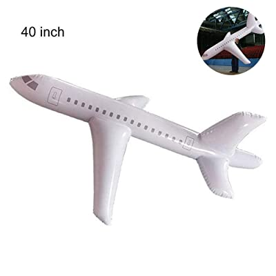 CJCGLOBAL Large Inflatable Airplane Float, Airplane Balloon with Inflatable Tube for Outdoor, Party Favors, Swimming : Home & Kitchen