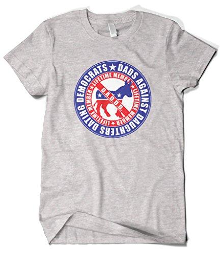 Democrat Light T-shirt (Cybertela Men's Dads Against Daughters Dating Democrats T-shirt (Light Gray, X-Large))