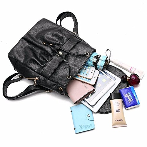 Women's Shoulder Cross Bags Pu Pockets Soft Wristlet Many Large Mszyz Vintage Leather Small With Capacity body Casual Clutch dSzpx1