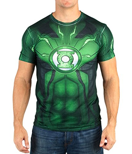 Green Lantern Suit Up Sublimated Costume T-Shirt-Large (Green Lantern Costume For Men)