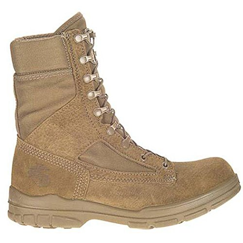 Bates Women's USMC DuraShocks Steel Toe Hot Weather Boot (9.5 M in Olive Mojave)