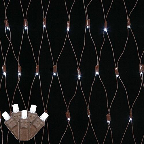 Pure White Led Net Christmas Lights - 8