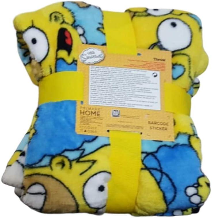 Licensed Yellow Blue Fleece Super Soft Travel Throw Bed Blanket Chracter Primark Gift New
