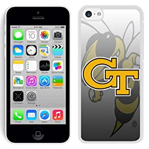 Hot Sale iPhone 5C Cover Case Atlantic Coast Conference ACC Footballl Georgia Tech Yellow Jackets 4 Protective Cell Phone Hardshell Cover Case For iPhone 5C White Unique And Durable Designed Phone Case