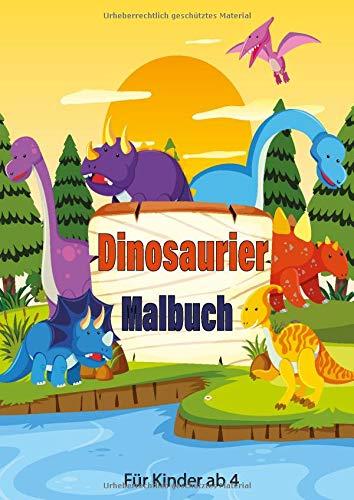 Dinosaurier Malbuch Fur Kinder Ab 4 Dino Malvorlagen Zum Ausmalen Hochwertiges Dickes Papier Perfekt Zum Malen Super Geschenk Fur Alle Dino Fans German Edition Kind Heiner 9781701612174 Amazon Com Books