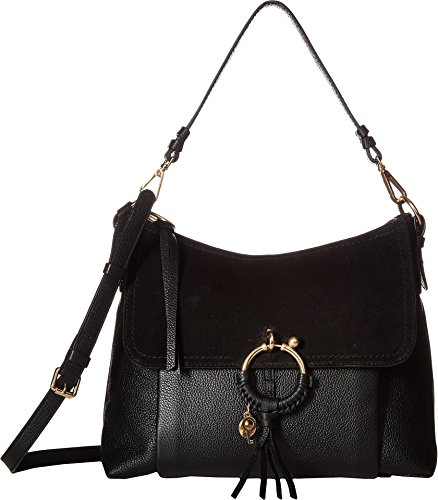 See by Chloe Women's Medium Joan Suede & Leather Shoulder Bag Black One Size ()