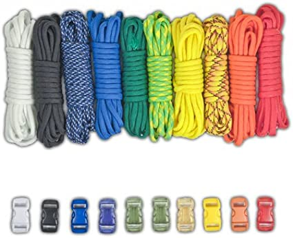 Party PARACORD PLANET 550lb Type III Paracord Combo Crafting Kits with Buckles