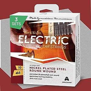 E-Gitarrensaiten 3 SETS .010 .046 Stahlsaiten KONSISTENTER & KRAFTVOLLER ROCK SOUND OPTIMIERTE STIMMSTABILITÄT 6-Saiten…