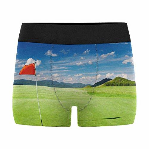 (INTERESTPRINT Men's All-Over Print Boxer Briefs Golf Field XS)